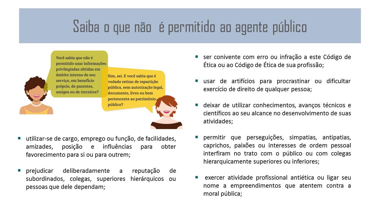 Saiba o que não  é permitido ao agente público