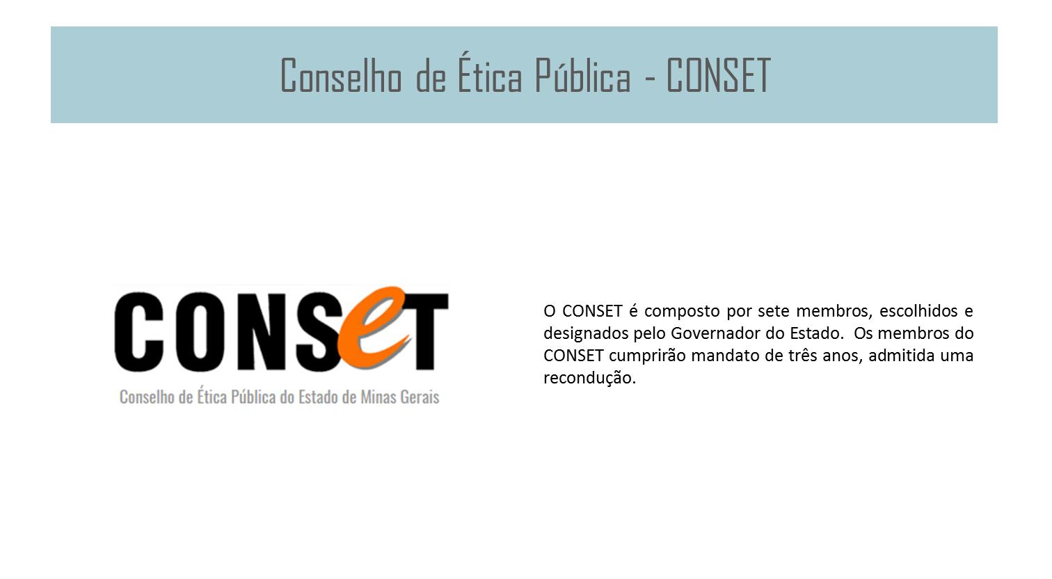 Conselho de Ética Pública - CONSET